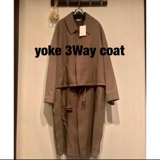 サンシー(SUNSEA)のyoke 3WAY BAL COLLAR       ベージュ(ステンカラーコート)