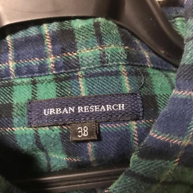 URBAN RESEARCH(アーバンリサーチ)のURBAN RESEARCH アーバンリサーチ チェック 長袖 ネルシャツ 38 レディースのトップス(シャツ/ブラウス(長袖/七分))の商品写真