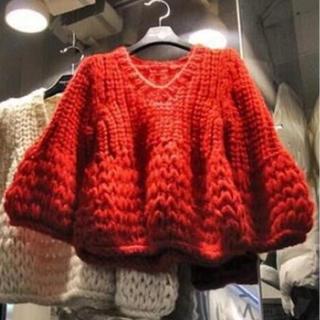 セーター 赤(ニット/セーター)