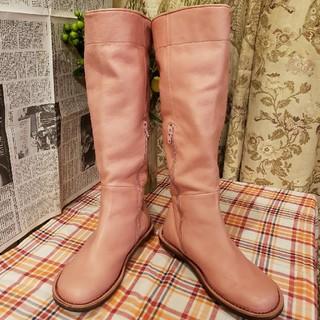 trippen - トリッペン trippen/37/23.5cm/ロングブーツ/革靴/ピンク