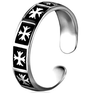 クロス 十字架 モチーフが並ぶ リング 指輪 フリーサイズ メンズ レディース(リング(指輪))