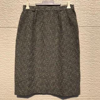 レリアン(leilian)のLeilian レリアン スカート グレー 9(ひざ丈スカート)