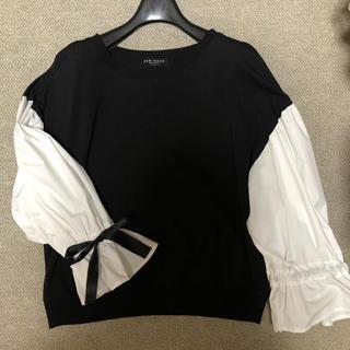 ROSE BUD - 袖リボンシャツ