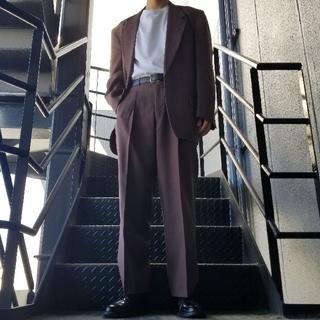 ジョンローレンスサリバン(JOHN LAWRENCE SULLIVAN)のヴィンテージ セットアップ スーツ パープル ブラウン ボルドー(セットアップ)