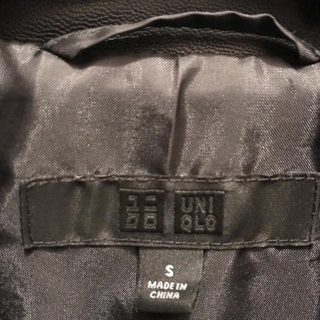 UNIQLO(ユニクロ)のユニクロ ネオレザー ジャケット s レディースのジャケット/アウター(ライダースジャケット)の商品写真
