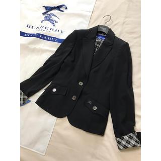 バーバリーブルーレーベル(BURBERRY BLUE LABEL)の美品 バーバリー ブルーレーベル ジャケット 黒 ブラック  七五三 スーツ(テーラードジャケット)
