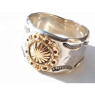 アリゾナフリーダム 希少サイズ 号 K18 コンチョ リング 指輪(リング(指輪))