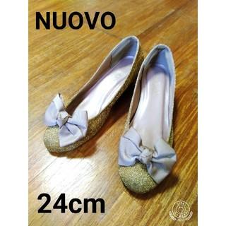 ヌォーボ(Nuovo)のNUOVO パンプス 24cm ゴールド ヴィンテージ(ハイヒール/パンプス)