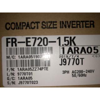 新品 三菱電機 汎用インバータ FR-E720-1.5K