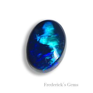 深いブルーの中の美しい閃光 0.7ct UP 天然 ブラックオパール(リング(指輪))