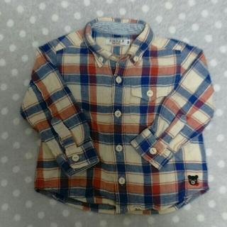 ミキハウス(mikihouse)のミキハウス ダブルB ネルシャツ 長袖 80(シャツ/カットソー)