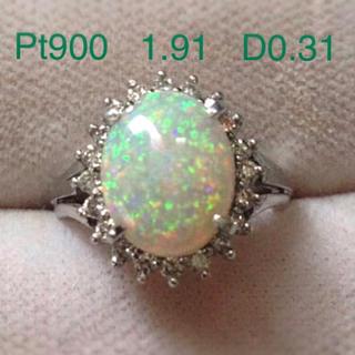 Pt900   1.91   D0.31  オパールリング (リング(指輪))