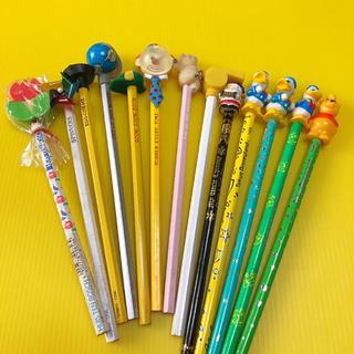 レトロ 鉛筆 えんぴつ マスコット付き ディズニー フロッキー 消しゴム