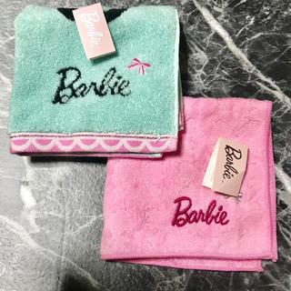 バービー(Barbie)の送料込み タグ付き Barbie バービー タオルハンカチ 2枚セット(ハンカチ)