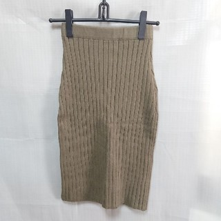 スライ(SLY)のスライ リブニットスカート(ひざ丈スカート)