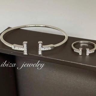 ティファニー(Tiffany & Co.)の✨至高✨ティファニー好き✨Tワイヤー✨リング&ブレスレット✨ホワイトゴールド✨(リング(指輪))