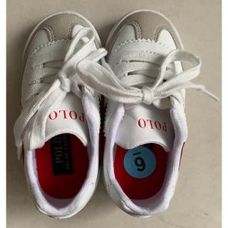 ポロラルフローレン(POLO RALPH LAUREN)のポロ・ラルフローレンの赤ちゃん用の靴 (新品) 女の子 男の子(スニーカー)