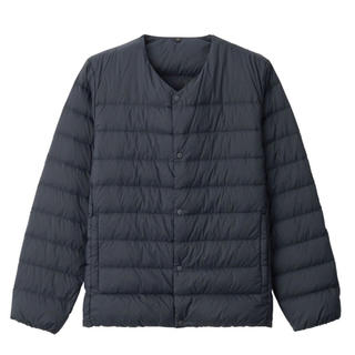 MUJI (無印良品) - 無印良品ノーカラージャケット ダークネイビーMサイズ