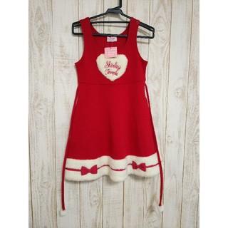 シャーリーテンプル(Shirley Temple)の【値下げしました】シャーリーテンプル 真っ赤なクリスマスワンピース 120(ワンピース)