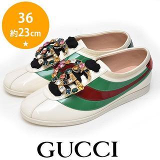 グッチ(Gucci)の新品❤️グッチ 18AW ビジューバックル レディーススニーカー  36(約23(スニーカー)