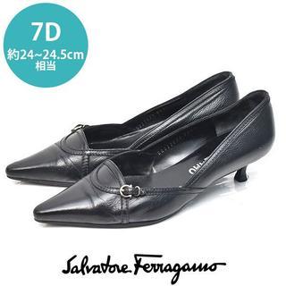 Salvatore Ferragamo - フェラガモ ガンチーニ ベルト パンプス 7D(約24-24.5cm)