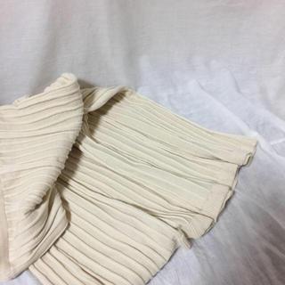 ZARA - ニット サーキュラー スカート White