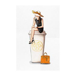 エルメス(Hermes)のCafe au Lait Orange 91.4×60.9cm (絵画/タペストリー)