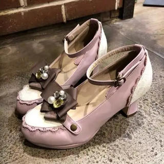 axes femme - ロリータ ゆめかわ axes femme ピンク パンプス Lサイズ
