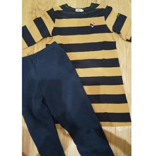 ダブルビー(DOUBLE.B)の美品 ダブルビー 110 ワンピース ズボン セット(パンツ/スパッツ)