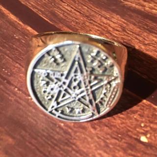 テトラグラマトン シルバー925 リング  21号 魔術師 占い 五芒星 銀指輪(リング(指輪))