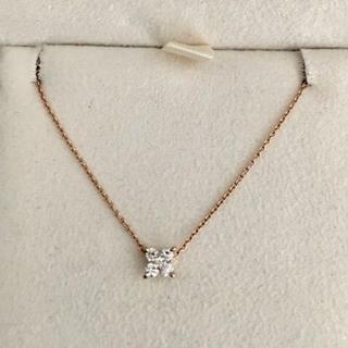 PonteVecchio - ポンテヴェキオ ダイヤモンド フラワー ネックレス K18PG 0.10ct