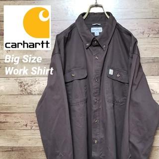 カーハート(carhartt)の《レアサイズ》カーハート 超ビッグサイズ 織りタグ ワークシャツ 厚手シャツ(シャツ)