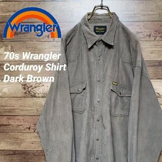 ラングラー(Wrangler)の《激レア》ラングラー 70s コーデュロイシャツ ビンテージ ブラウンカラー(シャツ)
