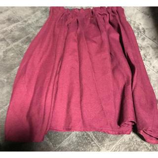 シマムラ(しまむら)の【美品】ウエストギャザースカート(ひざ丈スカート)