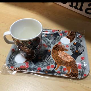 marimekko - マリメッコ マグカップとトレイ セットで