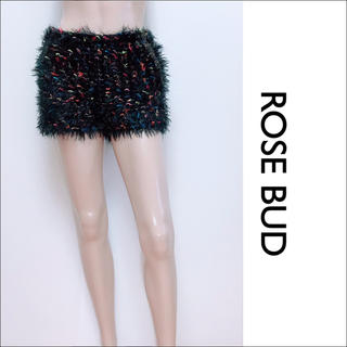 ローズバッド(ROSE BUD)のROSE BUD マルチカラー ニット ショートパンツ♡snidel イエナ(ショートパンツ)