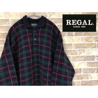 REGAL - REGAL リーガル アーガイル チェック セーター ニット 厚手