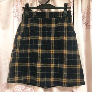 ページボーイ(PAGEBOY)のページボーイ チェック台形スカート(ミニスカート)