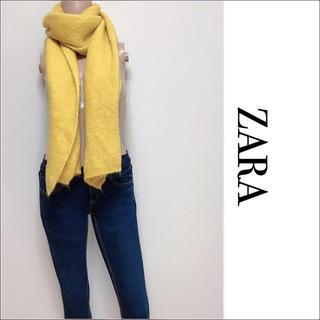 ZARA - ZARA ふわふわ マフラー Yellow ユナイテッドアローズ H&M スライ