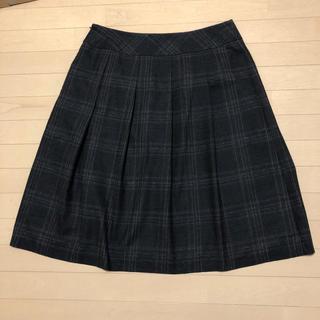 大きいサイズ フレアスカート ブラウンチェック(ロングスカート)
