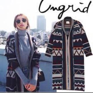 Ungrid - Ungrid★ネイティヴ★ガウンコート★ニット★ロングコート
