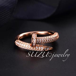 カルティエ(Cartier)の本家仕様✨最高級ピンクゴールド✨釘リング❤️(リング(指輪))
