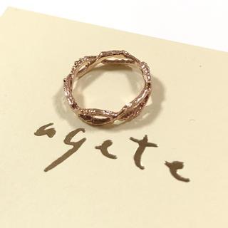 アガット(agete)のアガット k10 PG 小枝モチーフ ピンキーリング  ete ノジェス  (リング(指輪))