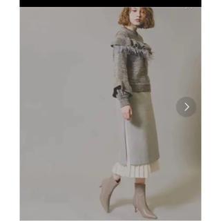 ルシェルブルー(LE CIEL BLEU)のpalinkA  グレースカート&白プリーツセット(ひざ丈スカート)