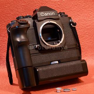 キヤノン(Canon)の【試写済み】キヤノンF-1ボディモータードライブ付き(フィルムカメラ)