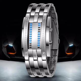 メンズ腕時計☆LEDブレスレッドウォッチ☆Retro-Future好きな方に◎(腕時計(デジタル))