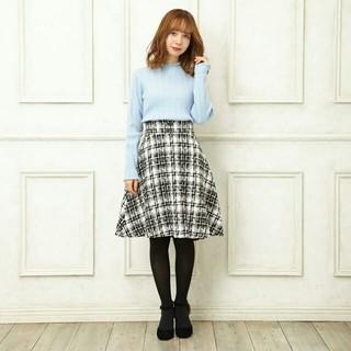 INGNI - 【完売品】 今期  INGNI  バック編み上げツイードフレアスカート