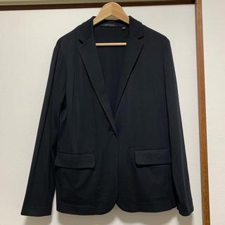 UNIQLO - UNIQLO UVカットジャージジャケット 黒 XL