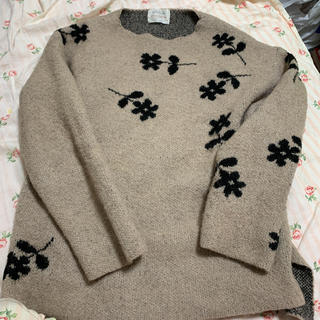 ザラキッズ(ZARA KIDS)のzarakidsお花柄セーターくすみピンクフラワー(ニット/セーター)