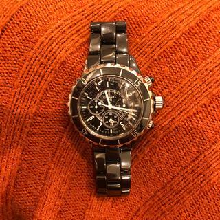 CHANEL - 時計シャネル J12 クロノグラフ 黒セラミック